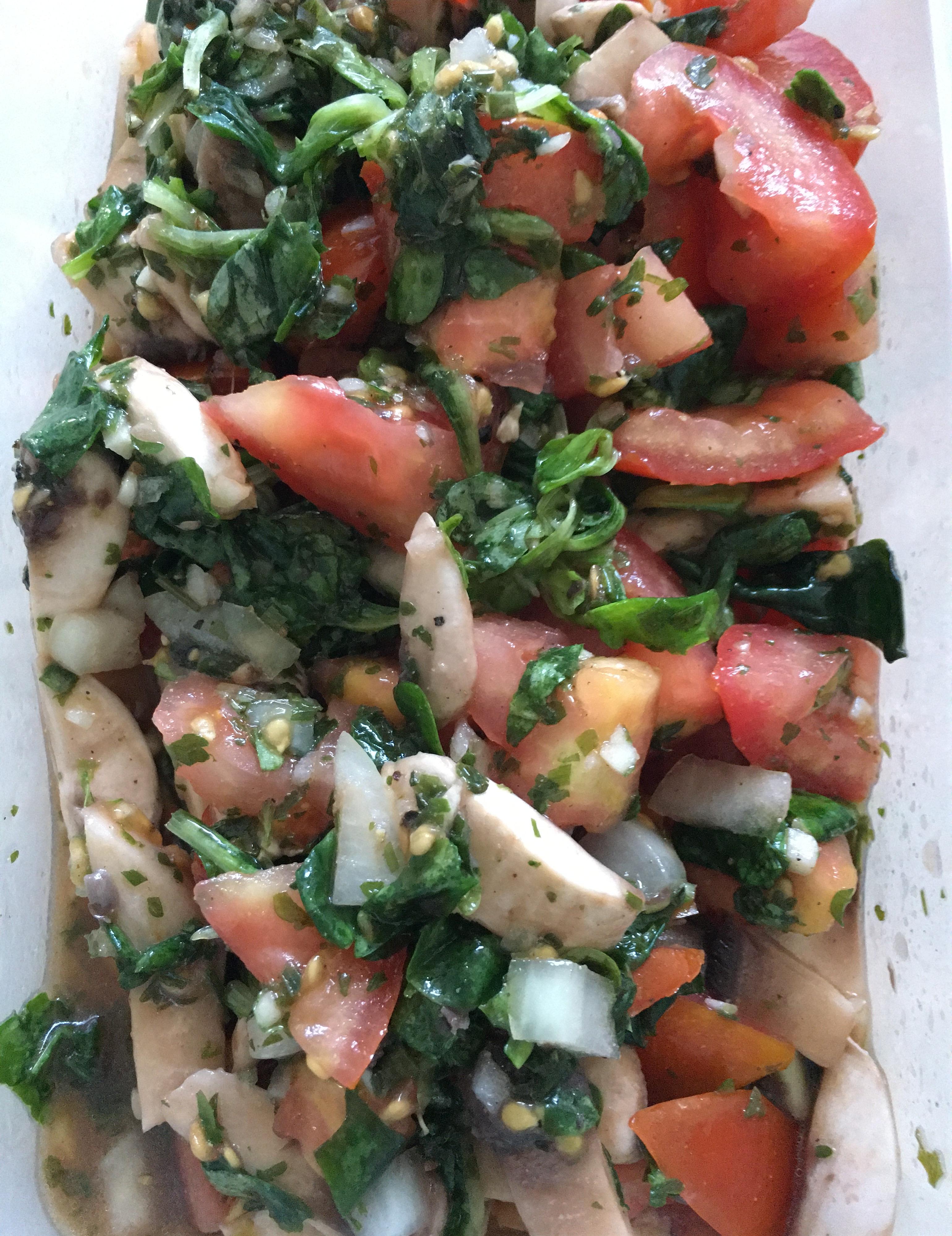 Rezeptseite für den leichten Tomatensalat.